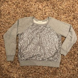 Forever 21 - gray sequin top size Large
